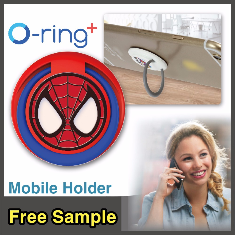 O-ring+ custom printing Hand Grip Ring Phone Stand ring holder