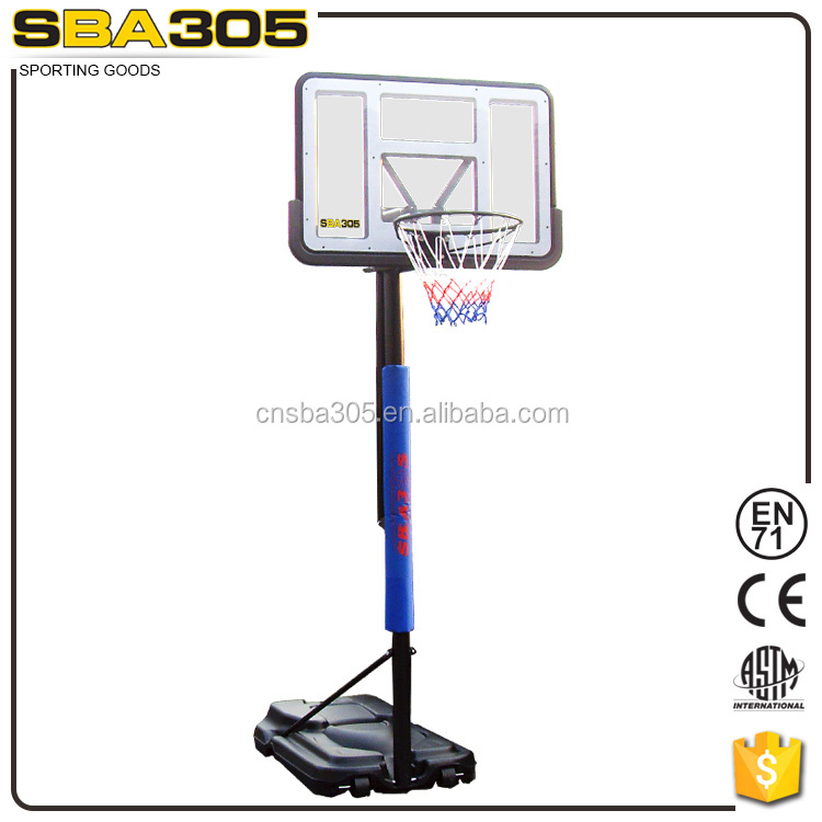 durable and deluxe basketball hoop equiped with PC backboard and PE pad