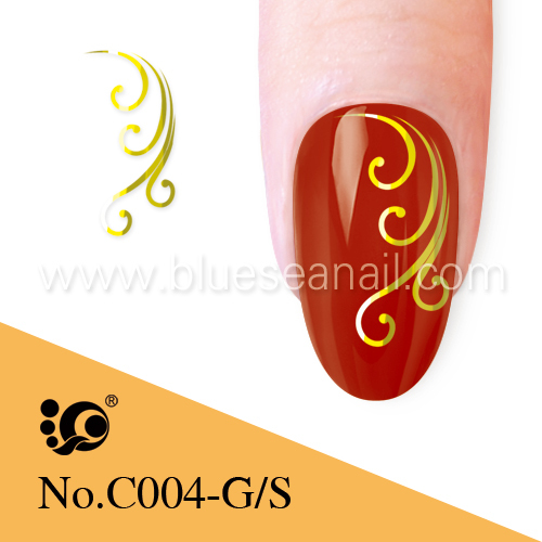 Promotion stencils designs gold henna tattoo for nail art