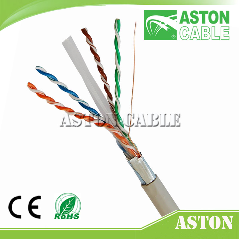 FTP Cat6 Best Selling Outdoor Bulk Cable 24 AWG BC+CCA 4 Pairs