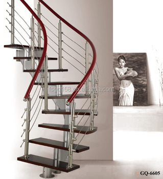 Spiral Stainless Steel Glass Staircase Manufacturers