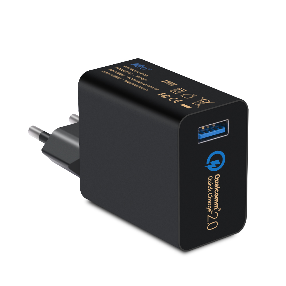 Super fast QC 2.0 mobile phone USB Charger qualcomm certified quick charge 2.0 with good service and high quality