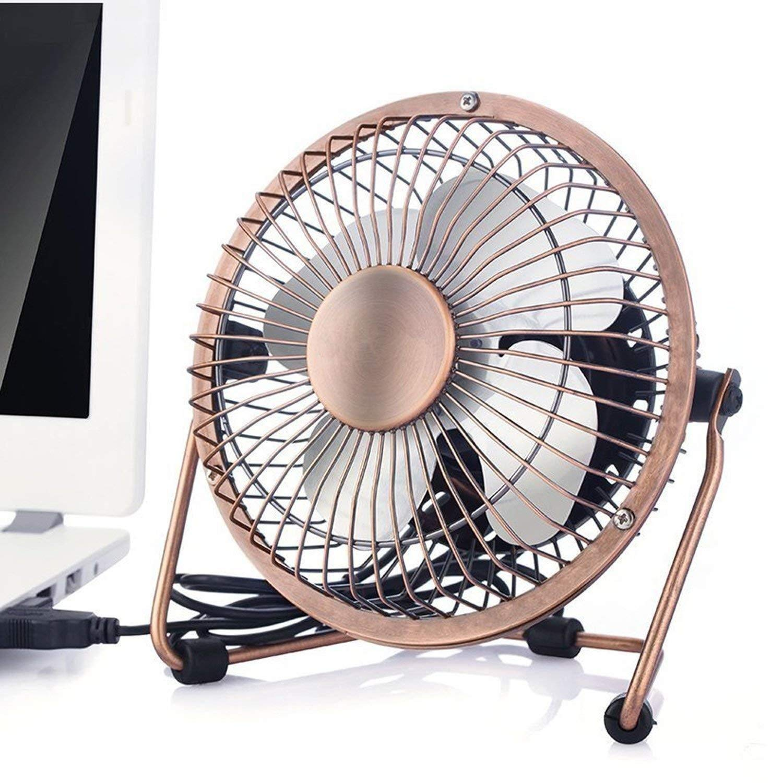Get Quotations · Donsinn USB Desktop Personal Fan, Metal Design Quiet  Operation Portable Mini Table Fan For Office
