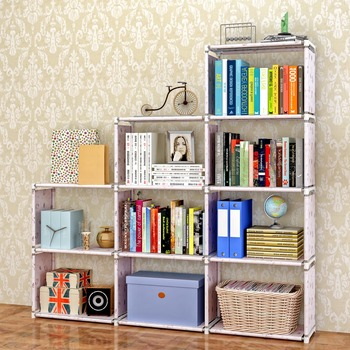 movable portable non woven fabric book shelf/bookcase/storage cabinet kids  bookshelf malaysia