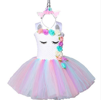 Princess Dress for Girls Kids Birthday Party Unicorn Costume Outfit Halloween Cosplay SE287