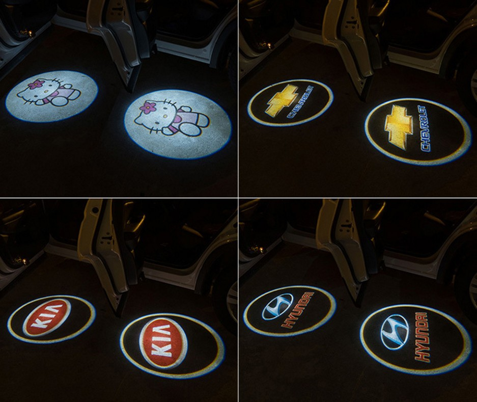 Newest Custom Ghost Shadow Door Light Glc 3d Led Logo Projector