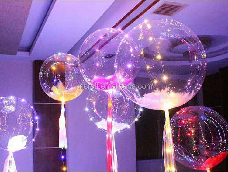 2017 trending products 18'inch led flashing helium led balloon light transparent party supplies decorations
