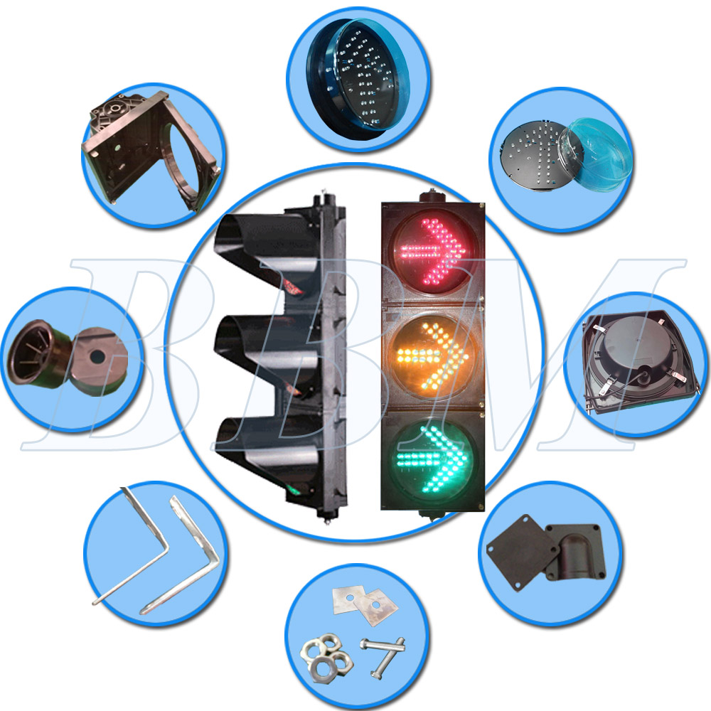 Easy install safety warning traffic signal light