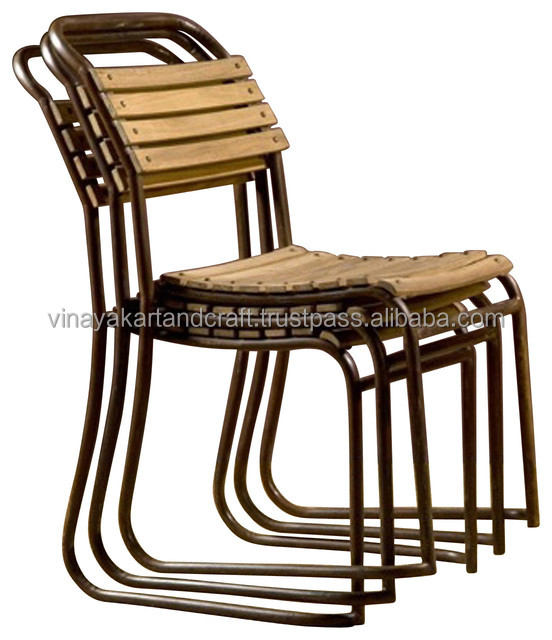 French Industrial Dining Chairs, Industrial Metal Chairs for Restaurants