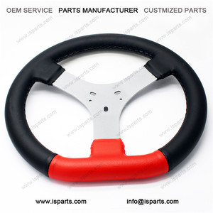 Hot sale Diameter 320mm with 3 hole small go karting steering wheel