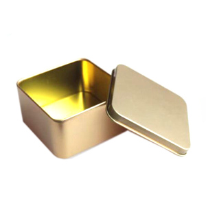 The latest design square metal food grade tin can