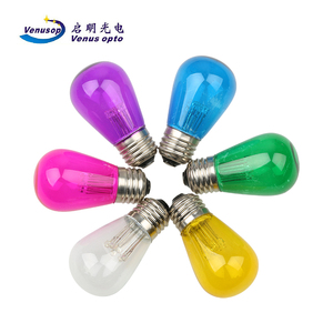 Colorful 7SMD S14 1w led bulb Color change LED string lights Outdoor christmas lights