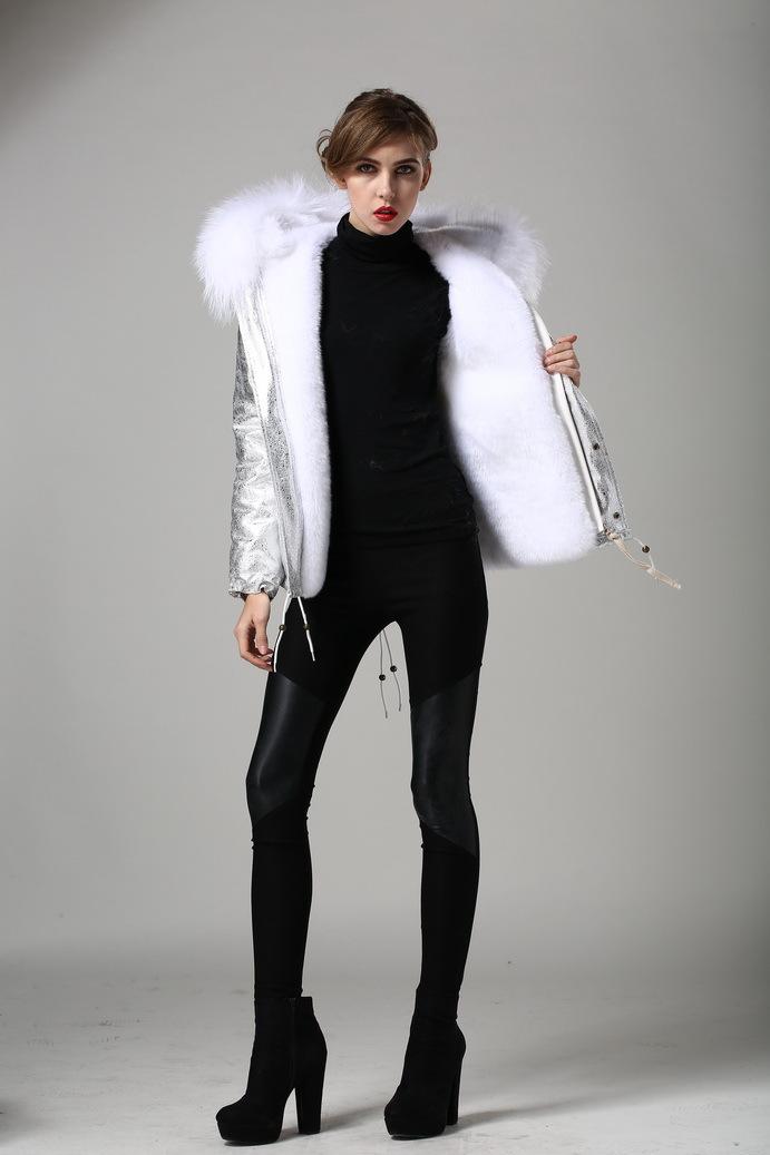 Buy Parka Fourrures Fourrure Veste Vêtements Réel Fausse Blanc Reccoon Doublé Vestes Extérieur À À Pour Animaux L'intérieur Dames Or De En Capuche fgy7bY6v