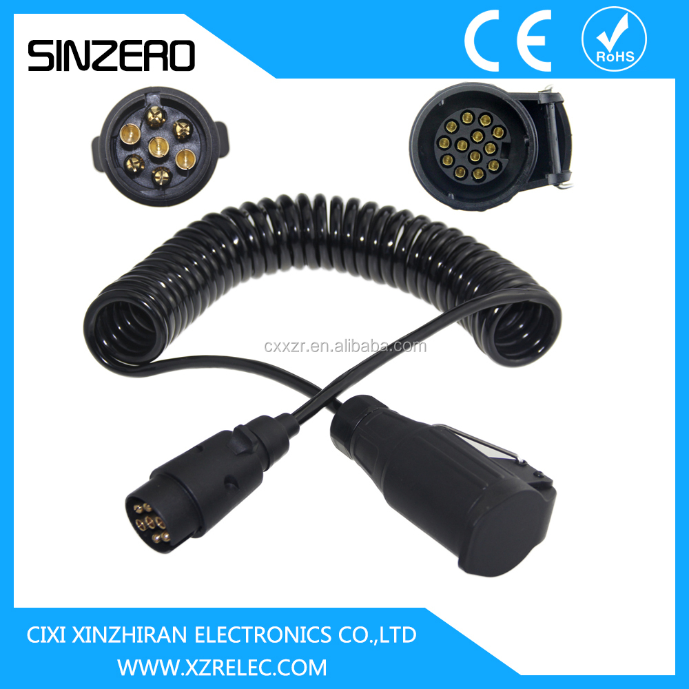 Parts Of Electrical Cables : Spiral power cable trailer parts electric xzrt low bed