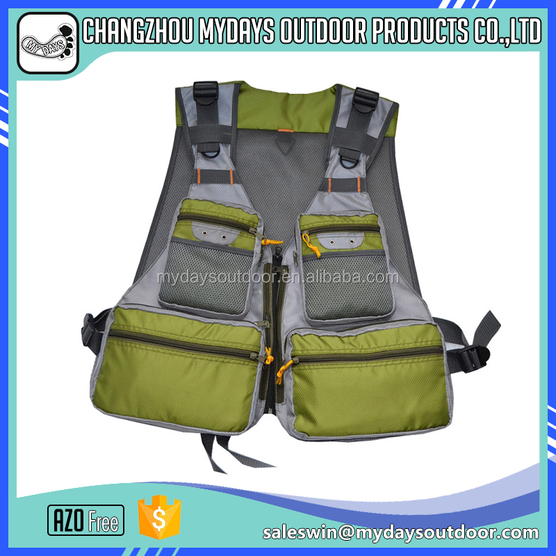Outdoor multi-pocket comfortable fishing vests