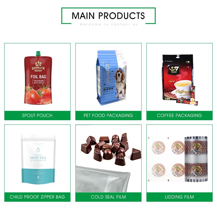 Hohe leistung angepasst lebensmittel verpackung kunststoff verpackung film roll für landwirtschaft