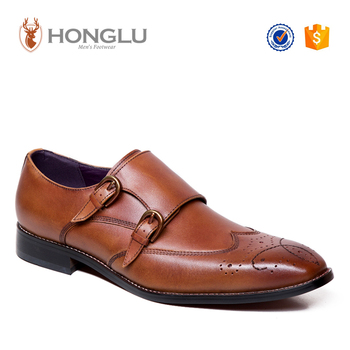 2016 New Model Men Dress Shoes, Fashion Monk Shoes For Men, Designer Brogue Wedding Shoes For Men