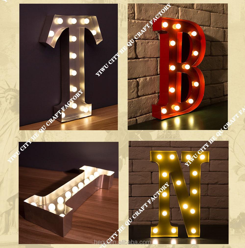 Metal Vintage Letter Lighting Christmas Decor Light Letters  Buy