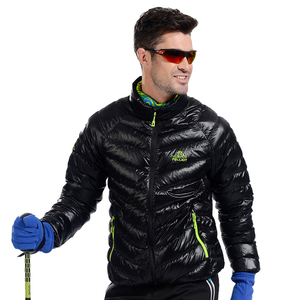 Men outdoor duck down jackets wholesale price in winter without hooded