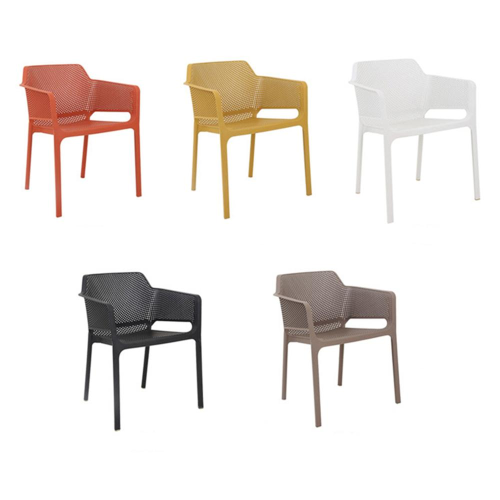 modern miniature furniture Plastic PP armrest stackable dining chair wedding chair
