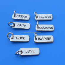 Lettere incise logo charms gioielli ciondolo- sogno/fede/credere/<span class=keywords><strong>amore</strong></span>