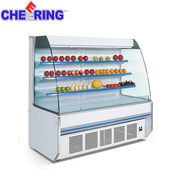 commercial refrigerator for fruits and vegetables vegetable refrigerator for supermarkets , supermarket obst vitrine