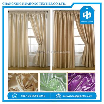 Quality Guaranteed 100 Polyester Woven Satin Thin Curtin Fabric