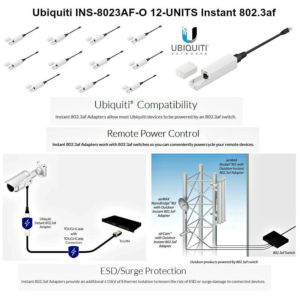Ubiquiti INS-8023AF-O 12-UNITS 802.3af Instantly Transform any POE Device
