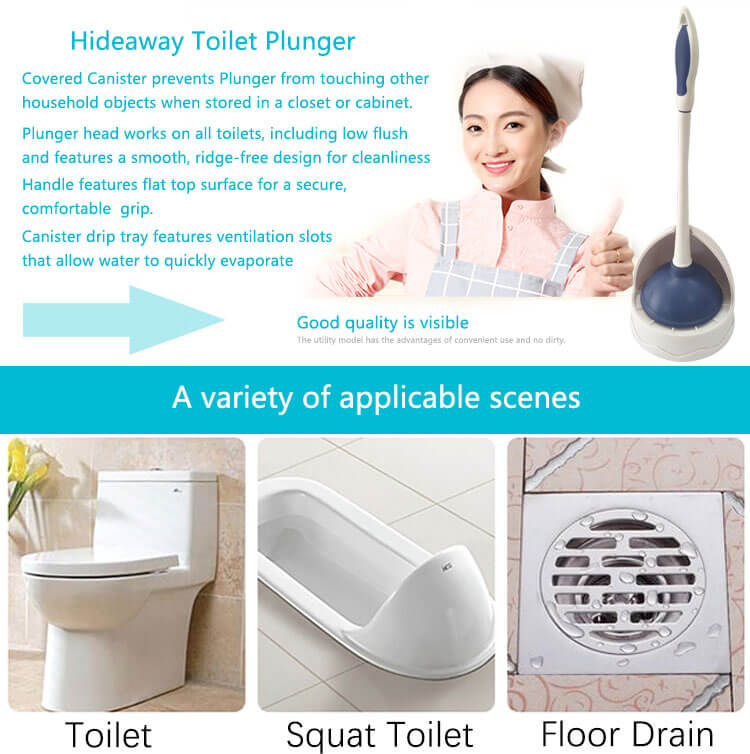 Rubber heavy duty best sale set of accessories rubber Toilet Plunger, toilet suction