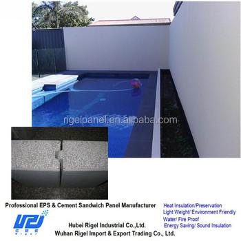 Swimming Pool Wall Panel Eps Sandwich Panel Buy Swimming