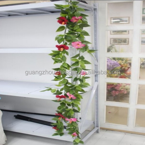 Q122519 artificial ivy vines leaves with flowers evergreen artificial garland
