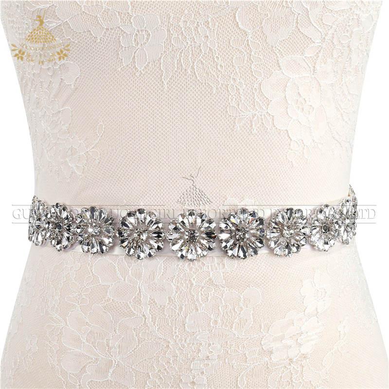 Bruids Strass Bruiloft Riemen Hand Clear Crystal Voor Bruidsjurken riemen