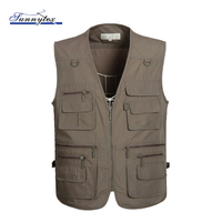 Mens Waterproof Fishing Vest With Many Pockets