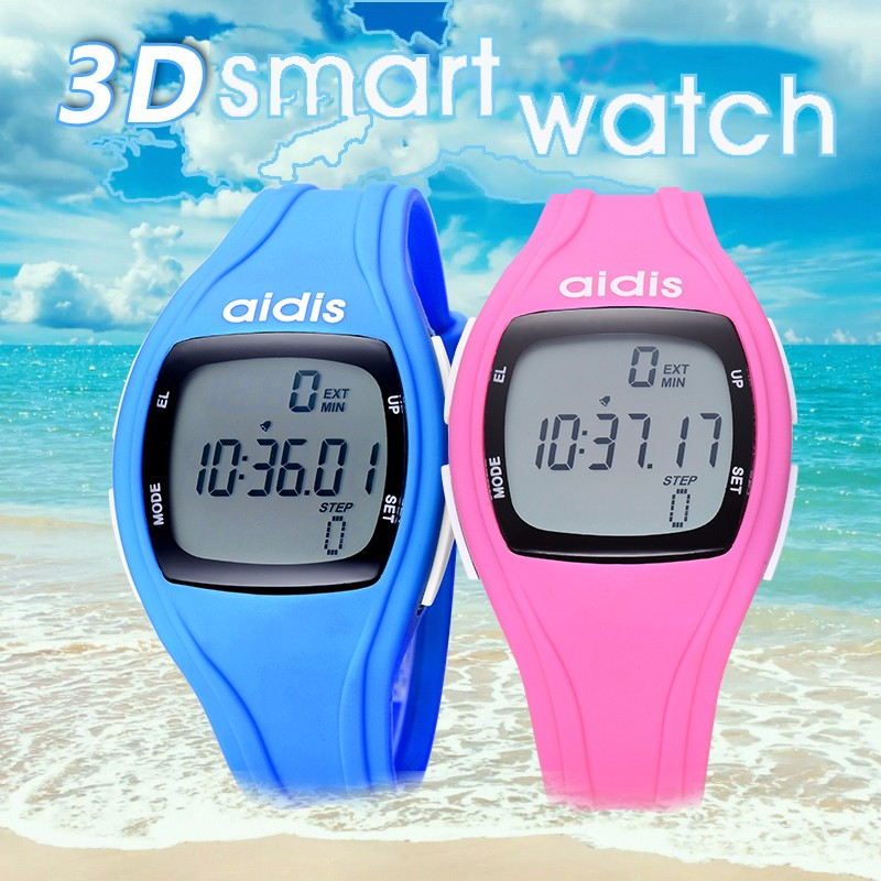 <strong>Men</strong> And Women Running Pedometer Watch Luminous Alarm Clock Waterproof Function Student Wristwatch Kid Electronic Sport Watches