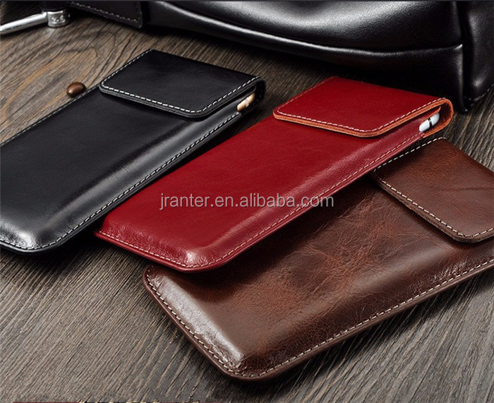 High Quality Wholesale Leather Case for iPhone 4 Waterproof Phone Pouch