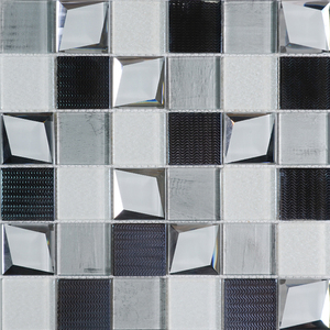 Dark emperador self adhesive glass mosaic mirror wall tiles 12x12