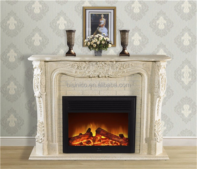 Stone electric fireplace heater surprising wall mounted for Small fake fireplace