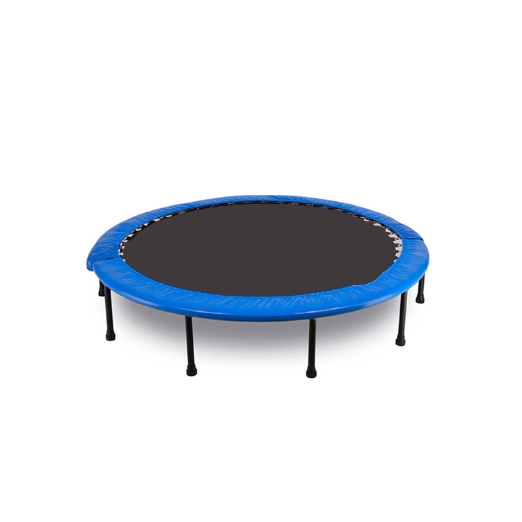 High Quality Professional Blue Round Shape Fitness Exercise Indoor Adult Fitness Mini Trampoline For Gym
