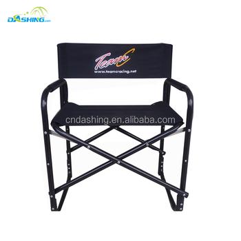 High-grade silver aluminum makeup chair director chair folding portable makeup chair Director