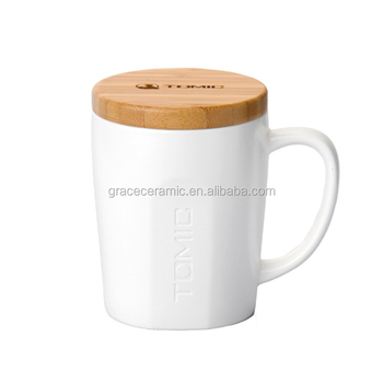 Hot White Porcelain Coffee Ceramic Mug Cup Plain Cups Mugs With Cover