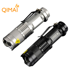 high-quality Mini Black 2000LM Waterproof LED Flashlight 3 Modes Zoomable LED Torch