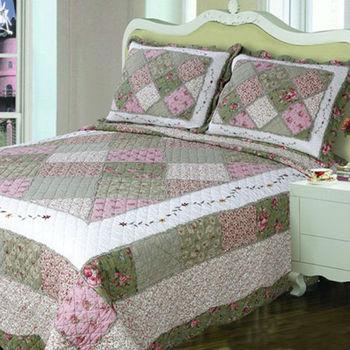 Greem Patchwork Latest Bed Sheet Designs YF 08green