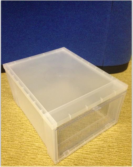 Acrylic Shoe Boxes : Large drop front shoe box acrylic buy