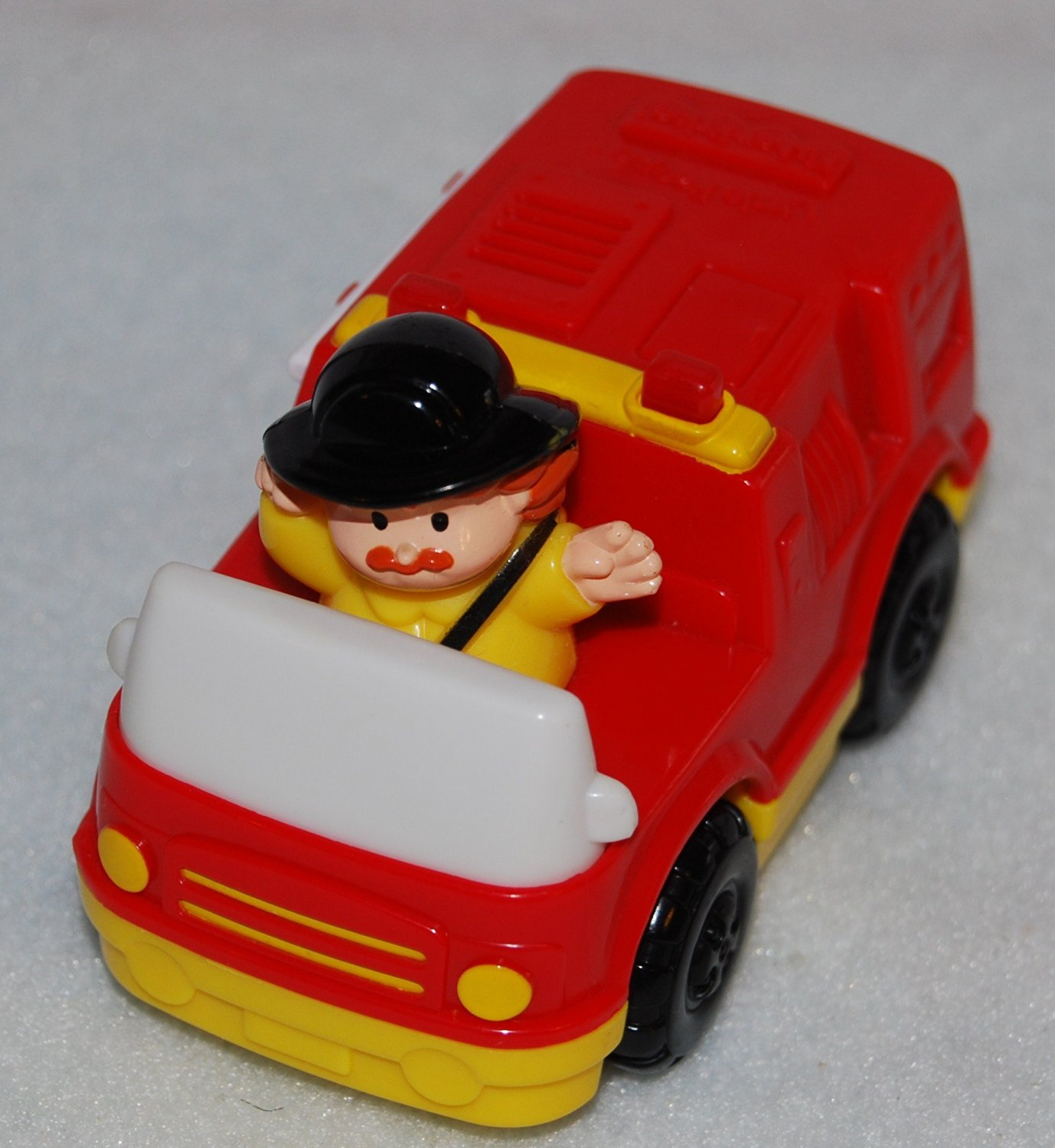 McDonalds Happy Meal 2004 Fisher Price Red Fire Truck with Driver