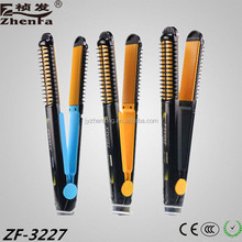 Newest Rechargable Coordless Hair Straightener ,Top Quality LED Ceramic 2 IN 1 Hair Straightener ZF-3227