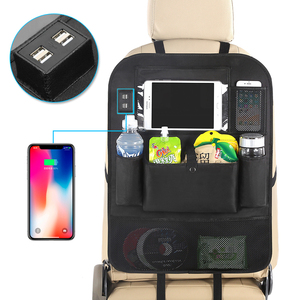 New Arrival Car Auto Seat Back Organizer with 4 USB charger sockets