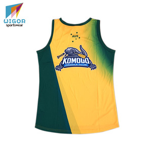 Light Fabric Quick Dry And Breathable Custom Sublimation Singlet