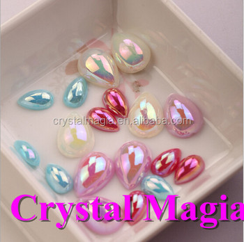 Decorative Pearls For Vaseshalf Round Ab Color Drop Pearl Bead