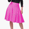 women custom made White Black Dot High Waist Crepe Flare Skirt