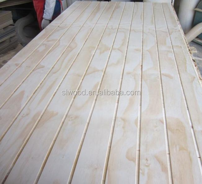 slot plywood with pine veneer